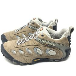 Merrell Chameleon II Ventilator Classic Hiking Shoes Sneakers Taupe Womens 7.5 M