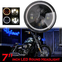7quot; Inch LED Headlight Projector DRL Motorcycle For Harley Dyna Cafe Racer Bobber $26.99
