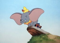 Disney Dumbo Animation Cel Learning To Fly Rare Edition Cell
