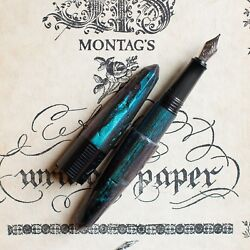 BENU Bossy Chameleon Collection Blue & Purple and Green Fountain Pen