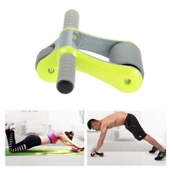 Folding Abdominal Wheel No Noise Roller With Mat Exercise Fitness Equipment