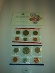 1989 P D Us Mint Uncirculated Coin Set W/ Envelope Nice 568