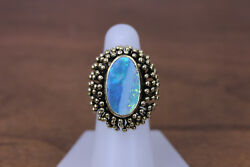 Beautiful 14k Rose Gold 1950and039s Modernist Opal Ring Size 6 1/2- 14081