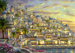 Best Gift Art Wall Home Decor Mediterranean Sea Oil Painting Printed On Canvas