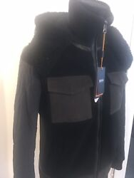 Leather , Shearling,suede And Canvas Designer Winter Jacket