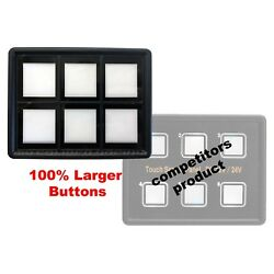 12v 24v 6 Gang Switch Panel Led BIG Switch Panel Touch Control Boat Marine Part