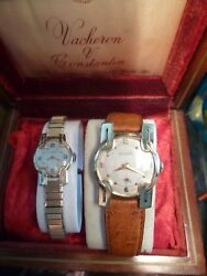 Unique Gift His/hers Jaeger Lecoultre Vintage Deco Gold Dress Watches.very Rare