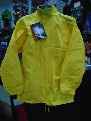 FIRSTGEAR CLUTCH MOTORCYCLE RAIN JACKET AND PANTS YELLOW LG $39.95