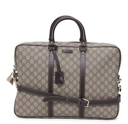 Gucci Leather Messenger Laptop Briefcase $1500retailed