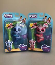 Wowwee Fingerlings Archie And Polly Glitter Pandas. Lot Of 2, Nib, Ready To Ship