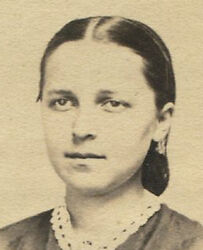 Young Woman, Hair Pulled Back, Crochet Collar. Cdv. Womelsdorf, Pa.