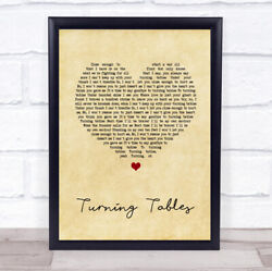 Turning Tables Vintage Heart Song Lyric Quote Print