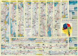 American Airlines Inc. Verso American Airlines System Map 1945