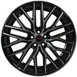 4 GWG Wheels 22 inch Black Machined FLARE Rims fits LAND ROVER RANGE ROVER AUTOB