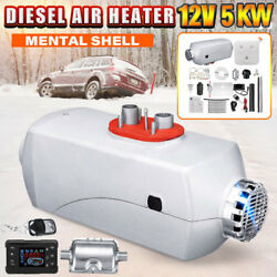 12V 5KW Car Air Heater Diesel LCD Thermostat For Auto Truck Boat With 10L Tank