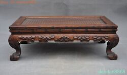 16old Chinese Huanghuali Wood Hand Carvedandldquo福andrdquotext Bat Ancient Tables Book Desk