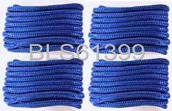 Set Of 4 Blue Double Braided 1/2 In X 15and039 Ft Hd Boat Marine Dock Line Ropes