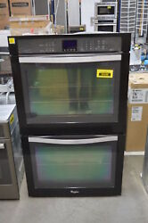 Whirlpool WOD93EC0AE 30quot; Black Double Electric Wall Steam Oven NOB #35398 CLW