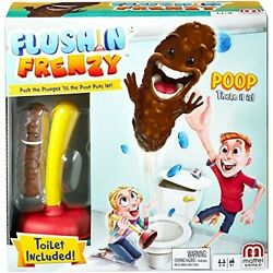 Mattel Flushing Frenzy Game For Kids Ages 5 And Up Plunger Toilet Fun Games