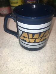 Vintage Cobalt Blue Gold And White Awacs Coffee Mug Cup Hard To Find