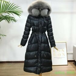 Womens Fahsion Shiny Winter 90% Down Warm Coats Joint Puffer Full Length 2019