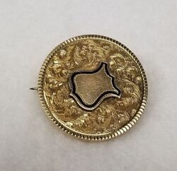 Antique 14kt Gold Tested Police Badge Officer Union Pin Shield No Monogram