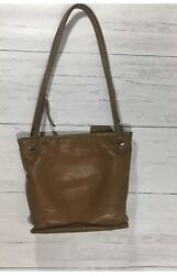 VINTAGE Early COACH Large Brown Leather LEGACY Bucket Tote Purse Bag NYC