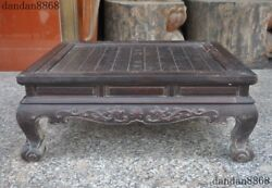 25old China Rosewood Wood Chessboard Checkerboard Square Desk Or Table Statue