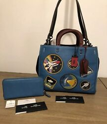 COACH 1941 NASA Rogue Space Patches & COACH 1941 Wallet In RIVER NWT!