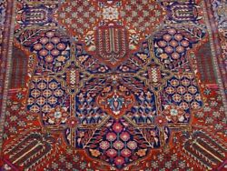 Excellent Antique 1900s Hand Knotted Wool Oriental Rug Cleaned 4'6 X7'3