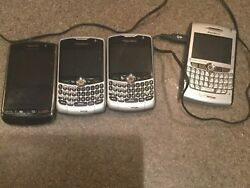 Blackberry Verizon Phones -4 Phones 40 Used All In Working Condition And Reset