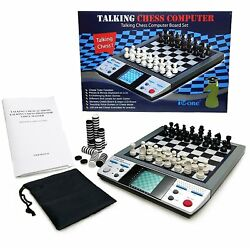 ICORE Electronic Travel Magnetic Talking Chess Board Games 8 in 1 Portable Gam