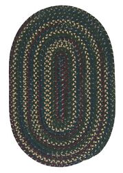 Midnight Deep Forest Green Braided Area Rug/runner. Many Sizes. Mn77