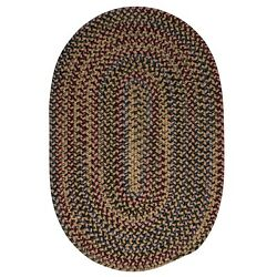 Midnight Mocha Brown Braided Area Rug/runner. Many Sizes. Mn97