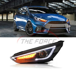 For Ford Focus Front Headlights 2015+ Assembly Turn Signal Lamp Hella Type