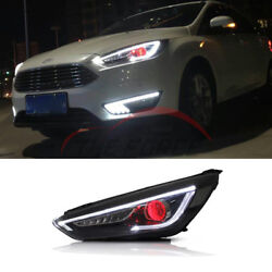 For Ford Focus Front Headlights 2015+ Assembly Turn Signal Lamp Double Light