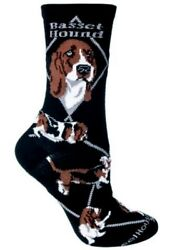 BASSET HOUND Black Socks~Wheel House~USA~Medium~Great Gift! Ships Free!