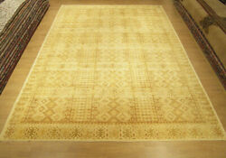 High Quality 9.4 x 12.4 Hand Knotted Afghan Ziegler Rug_Vegetable Dyes Fine Wool