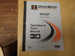 Ditch Witch Sk5gf Grapple Fork Attachment Operators And Parts Manual, Skid Steer