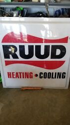 Ruud Heating And Cooling Sign