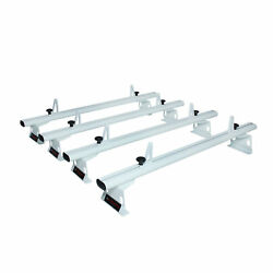 RAM ProMaster 2013-On Aluminum 4 Bar 72'' Van Roof Rack with Load Stops White