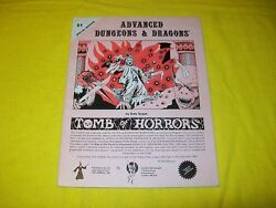 S1 Tomb Of Horrors Dungeons And Dragons Adandd Monochrome Uk Version Tsr 9022 - 2