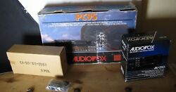 1988 Pc95 Audiovox Car Stereo New Vintage In Original Box And Speakers