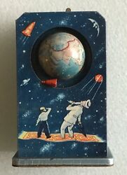 Sputnik Wind-up Space Toy, Fairy Tales And Science Ussr, Late 1950s, Rare