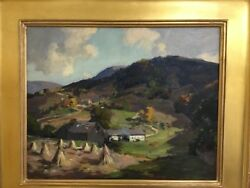 Charles Curtis Allen Oil On Board Vermont Or New Hamshire