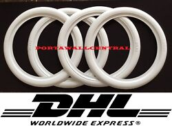 ATLAS 17quot; inch white wall Topper port a wall tire insert trim Set 4 FORD CHEVY.