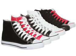 NEW Women#x27;s Classic High Top Skate Canvas Sneaker $19.99