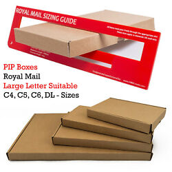 Cardboard Shipping C4 C5 C6 Size Royal Mail Large Letter Pip Postal Mailing Box