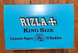 Vintage 1980 Cigarette Rizla King Size Box Of 50 Rolling Papers Nos Vhtf