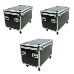 3 - 45 Utility Truck Pack Ata Tour Road Case With Hard Rubber Lined